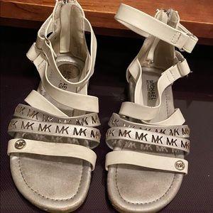 Michale Kora Girl white Sandals Sz 12